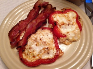 Bacon & Eggs in a Pepper Ring